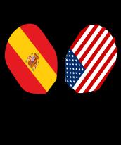 Spain on white