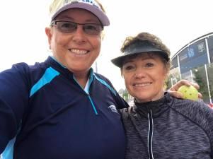 Fay Bruns- Bainbridge Cup and womens doubles partner