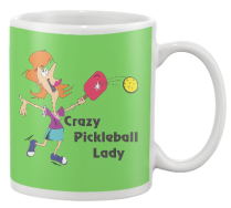 Crazy Pickleball Lady