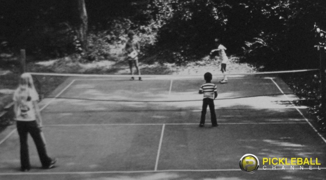 first pickleball court