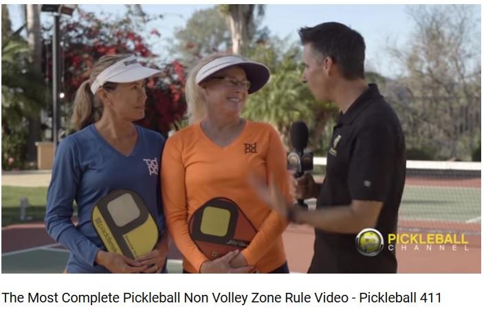 Pickleball 411-Jennifer Alex non volley zone rules