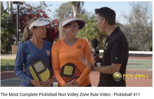 Pickleball 411-Jennifer Alex non volley zone rules